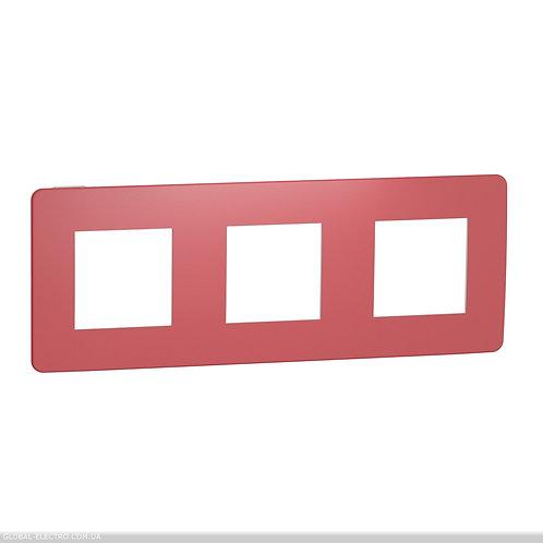 NU280613 Рамка 3-постова, Червона/білий