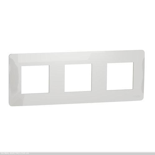 NU200618 Рамка 3-постова, білий