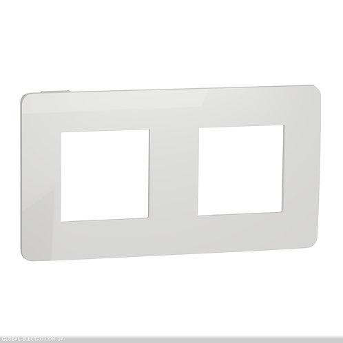 NU280418 Рамка 2-постова, Білий/білий