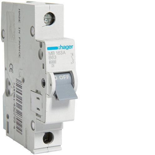 Автоматичний вимикач 1P 6kA B-63A 1M