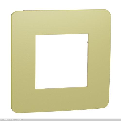 NU280212 Рамка 1-постова, Зелене Яблуко/бежевий