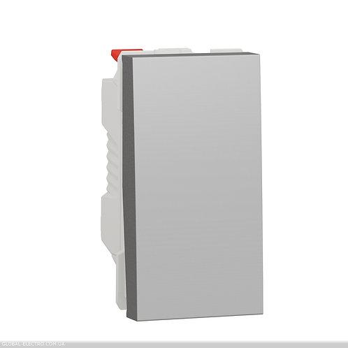 NU310330 Перемикач 1-клавішний схема 6, 10А, 1 модуль алюміній