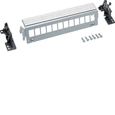 Патч-панель 12-кратна під модулі типу Keystone, з тримачами