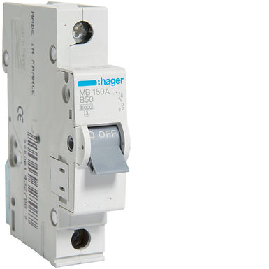 Автоматичний вимикач 1P 6kA B-50A 1M
