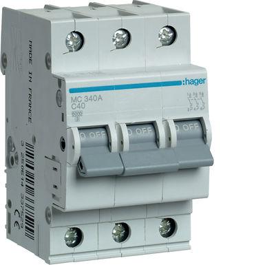 Автоматичний вимикач 3P 6kA C-40A 3M