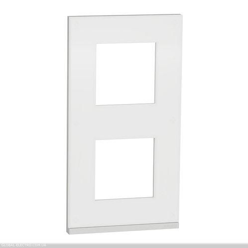 NU6004V89 2 постова рамка вертикальна Unica Pure матове скло