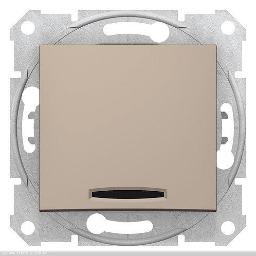 SDN1600168 Кнопочный выключатель SEDNA С синей подсветкой ТИТАН