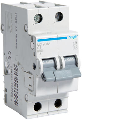 Автоматичний вимикач 2P 6kA C-3A 2M