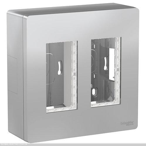 NU122430 Блок unica system+ відкрита вставка 2х2 алюміній