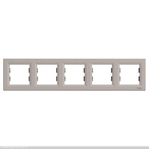 EPH5800569 РАМКА пятиместный горизонтально, ASFORA БРОНЗА