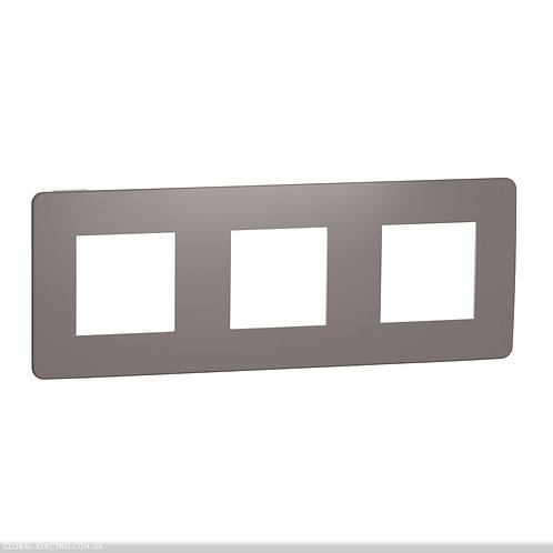 NU280616 Рамка 3-постова, Шоколад/білий
