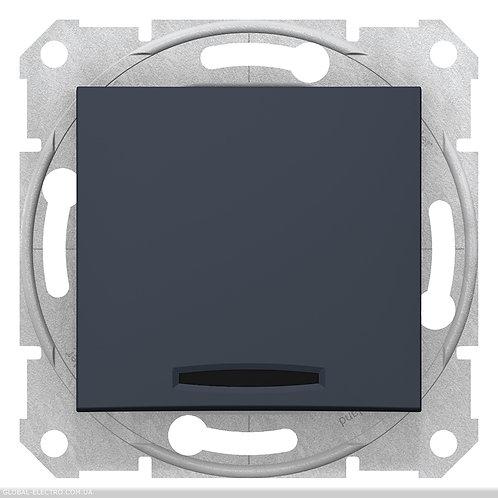 SDN0201170 2-х полюсный Одноклавишный ВЫКЛЮЧАТЕЛЬ с индикацией SEDNA ГРАФИТ
