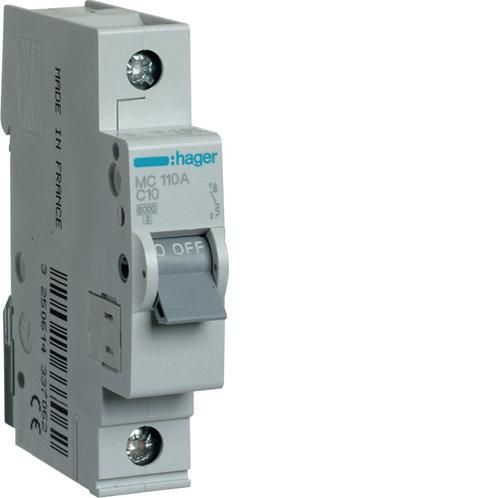 Автоматичний вимикач 1P 6kA C-10A 1M