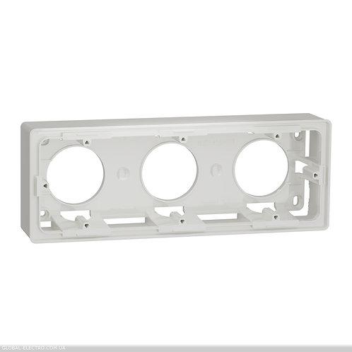 NU800618 Коробка для відкритого встановлення 3-пости білий