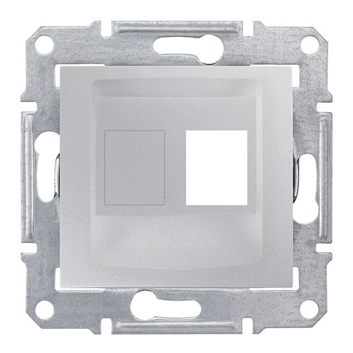 SDN4300660 НАКЛАДКА ДЛЯ 1 модуля AMP / MOLEX КАТЕГОРИИ 5e 6 UTP SEDNA АЛЮМИНИЙ