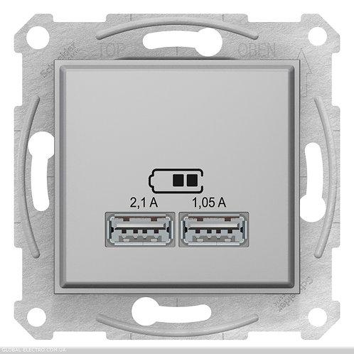 SDN2710260 USB РОЗЕТКА SEDNA 2,1A АЛЮМИНИЙ