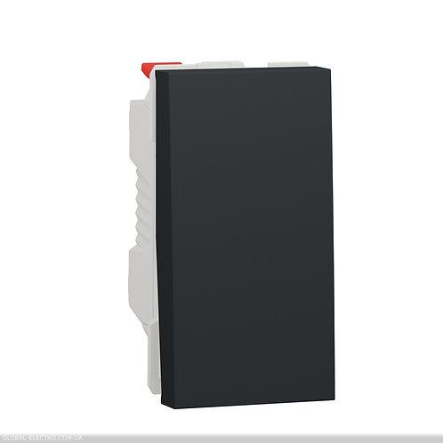 NU310354 Перемикач 1-клавішний схема 6, 10А, 1 модуль антрацит