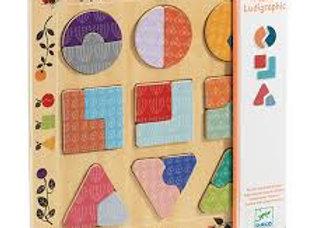 Puzzle educativo forme
