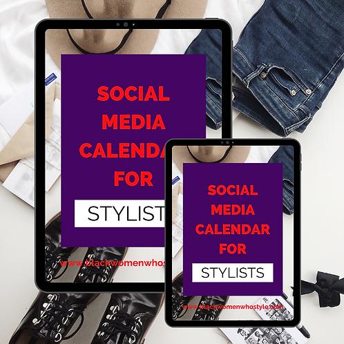 Social Media Calendar for Stylists