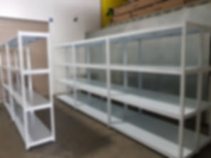 4 Tiers, Metal Shelving, 8 Large Racks