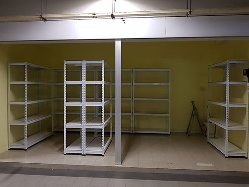 5 Tiers, Plywood Shelving, 7 Racks
