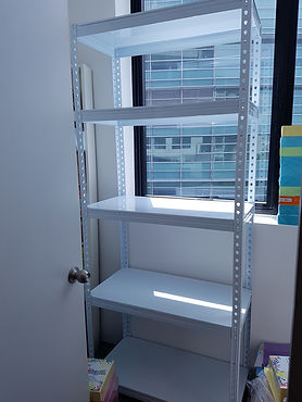 5 Tier, Metal Shelving, Single Small Rack