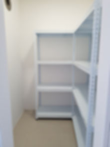 4 Tier, L shape Medium + Medium, Metal shelving