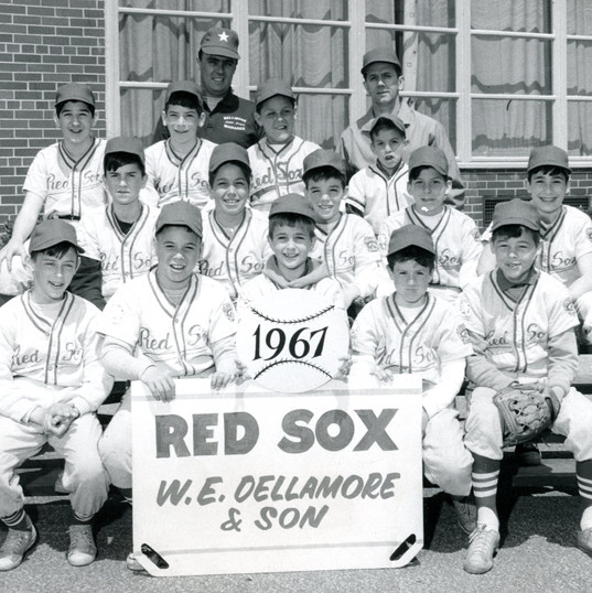 Little League, top row far left, 13-years-old