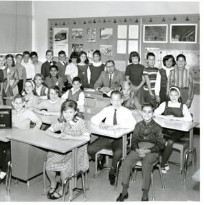 Fifth grade, age 10, standing on far right