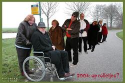 2003-12 Kerstkaart - Op Rolletjes