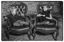 2015-10 Familieportret in Zwart-Wit