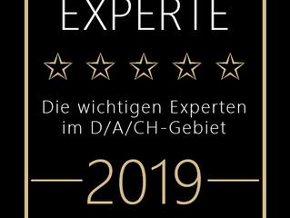 Zur Top Expertin ausgezeichnet worden