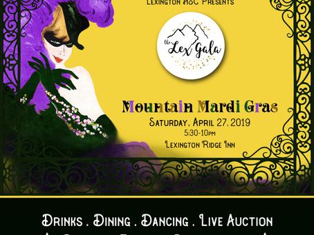 Get Your Tickets! The Lex Gala: Mountain Mardi Gras