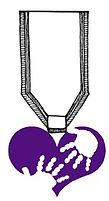 purple heart ribbon ksf logo purple hear