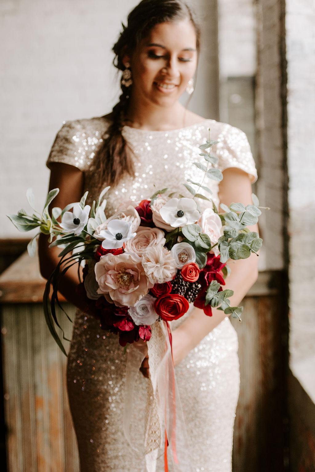 Non-traditional keepsake bouquet