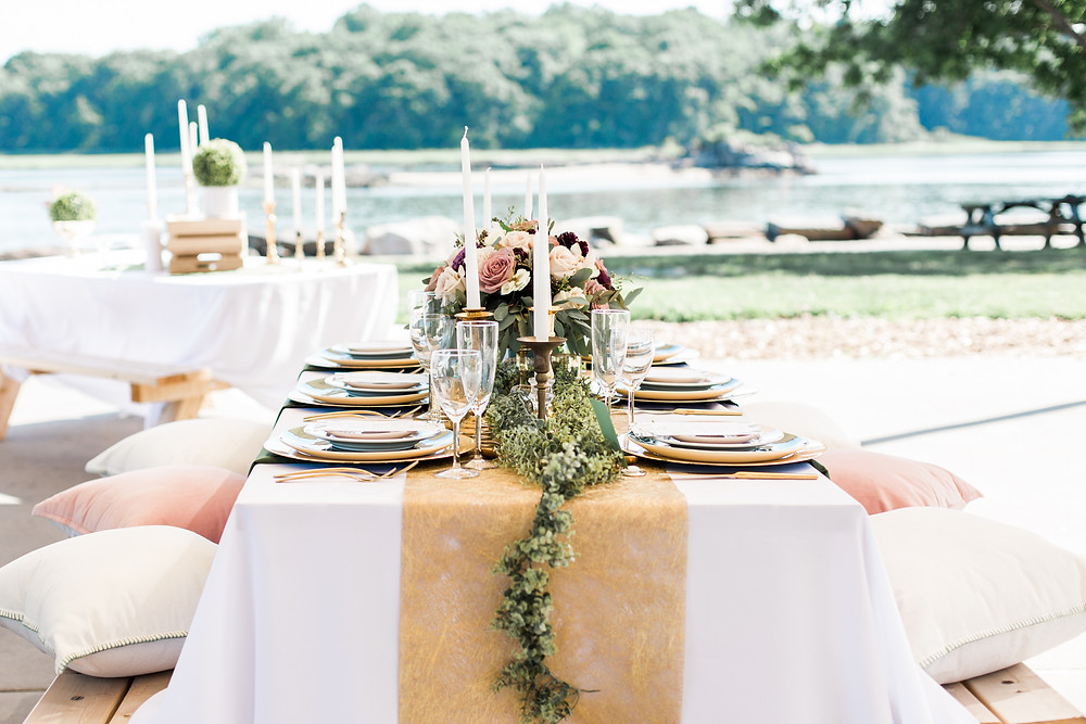 Outdoor rustic wedding in New Rochelle, NY. Photo by Kristina Staal.