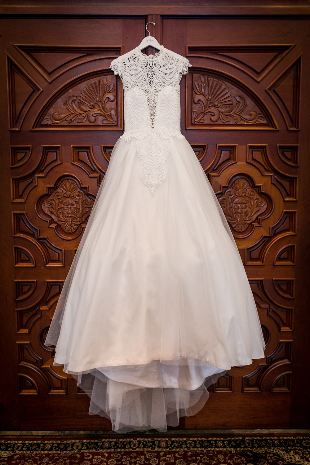 Wedding Dress by A'Dor Couture. Photo by Kathryn Cooper Weddings