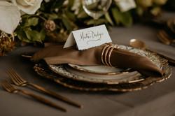 Place Setting Hutton Brickyards Wedding