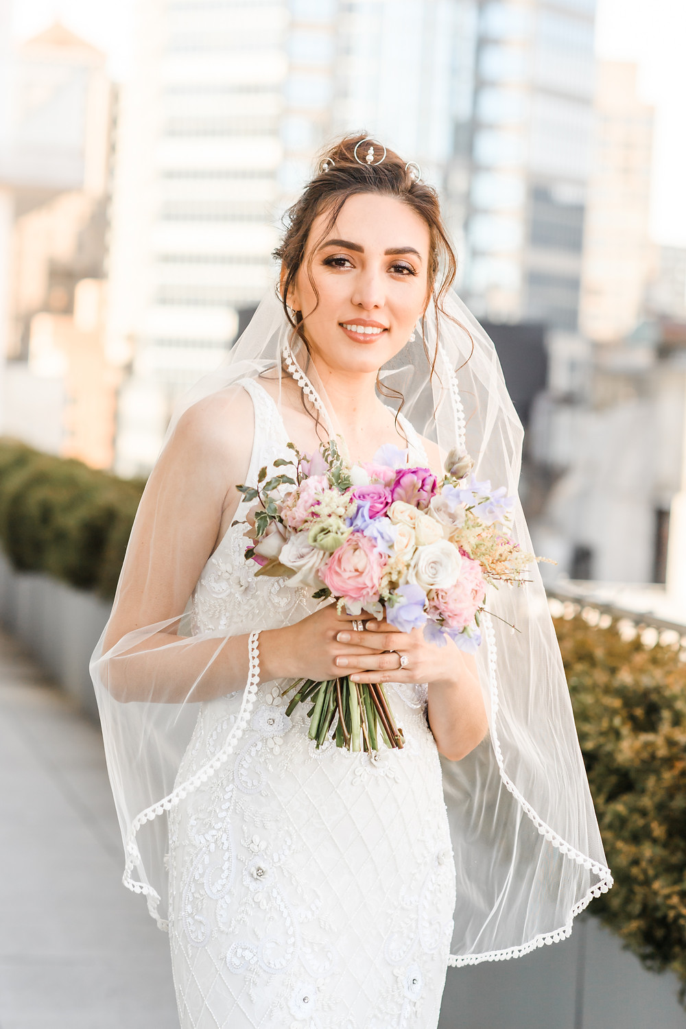 Manhattan Bride for winter wedding. Photo by Artvesta Studios
