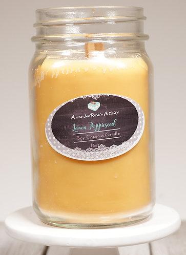 Lemon Poppieseed- 16oz Candle