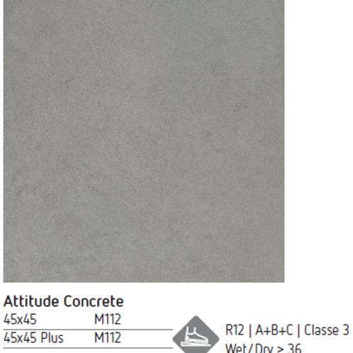 Pavimento cerâmico 45x45 Atitude Concrete