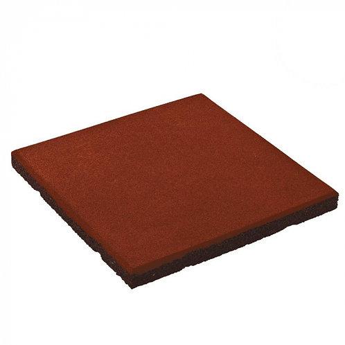 Pavimento em borracha vermelho