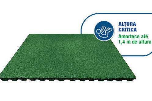 Pavimento de borracha 50x50cm verde