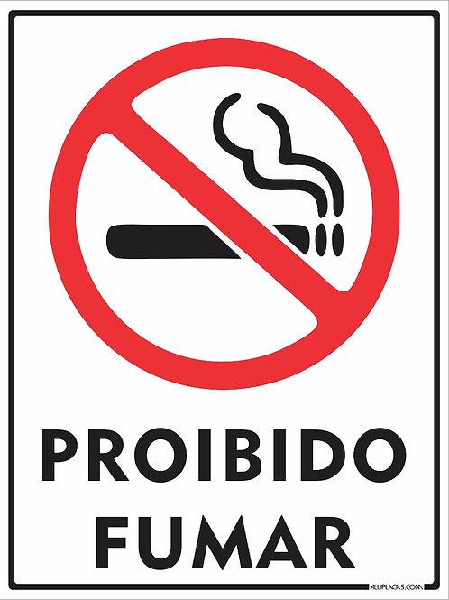 PLACA SINALETICA PROIBIDO FUMAR