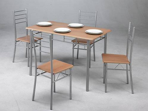 Mesa 1,20X70 cm + 4 cadeiras (Conjunto de 5 peças)