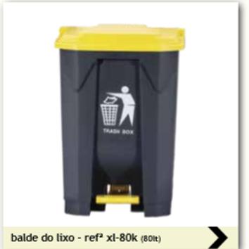BALDE DE 80 LT COM PEDAL