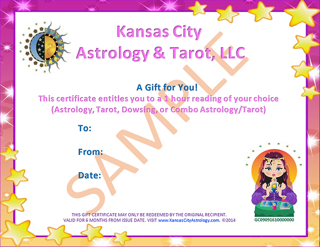 Kansas City & Astrology Gift Certificate