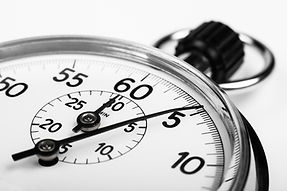 silver stopwatch closeup 5 sec isolated