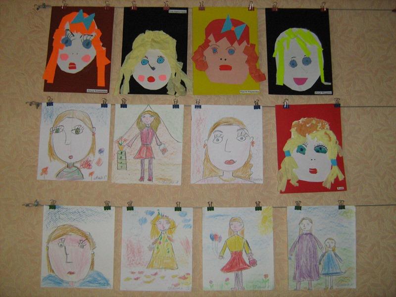 МАДОУ ЦРР-детский сад №70 выставка рисунков моя мама