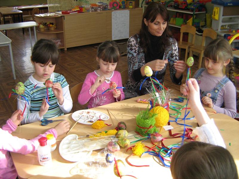 МАДОУ ЦРР-детский сад №70 изготовление пасхальных украшений